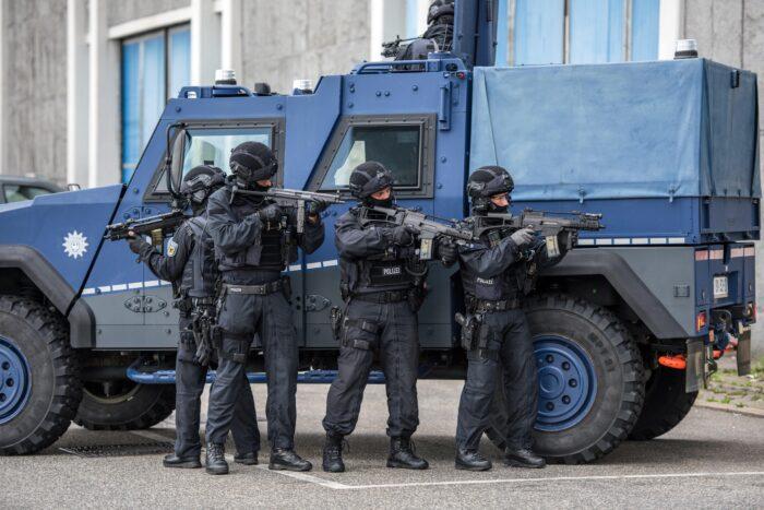 Bundespolizisten im Einsatz