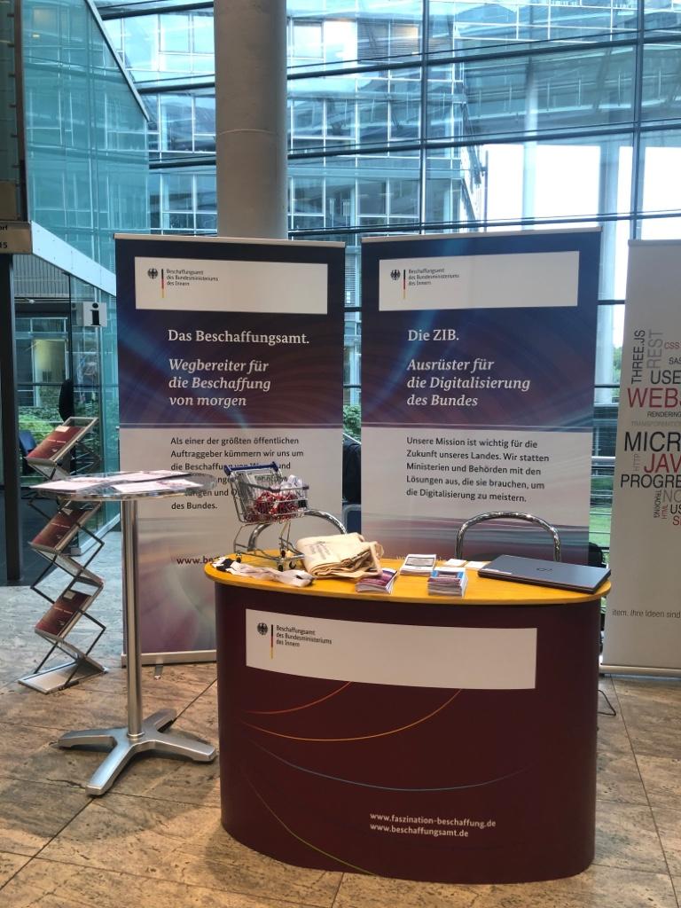Der BeschA Messestand beim IT-Jobtag in Köln
