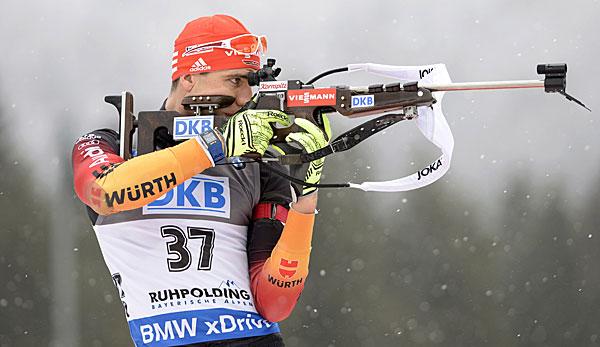 Biathlet Arnd Peiffer beim Schießen // Foto: Bundespolizei