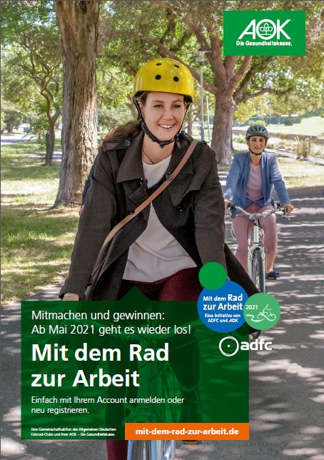 """Plakat der Aktion """"Mit dem Rad zur Arbeit"""""""
