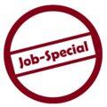 """Bild: Infozeichen mit dem Titel """"Job-Special"""""""