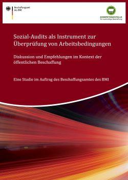 Deckblatt Studie zu Sozial-Audits