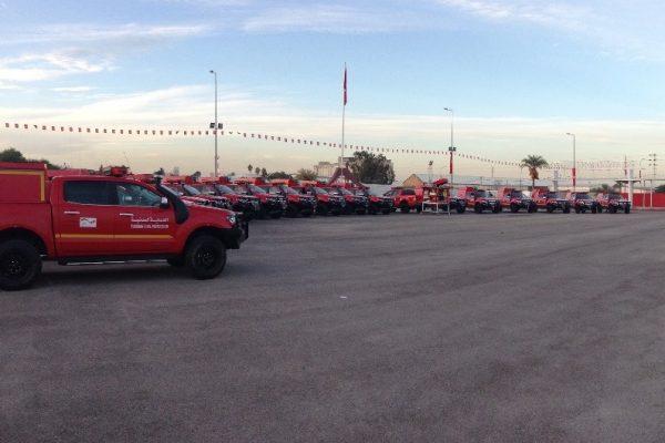 Bild: Neue Feuerwehr Pick-Ups für den tunesischen Zivilschutz