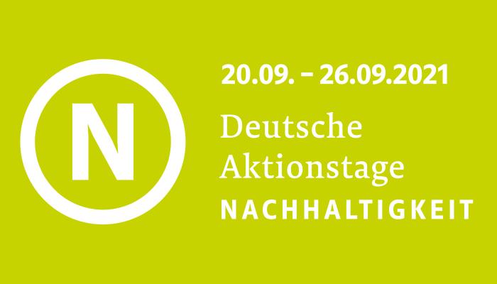 Banner der Deutschen Aktionstage Nachhaltigkeit